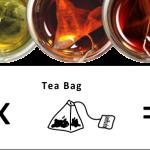 本格茶葉の本格テトラティーバッグ